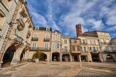 Main square of Villeneuve sur lot village in France. Main square of Villeneuve sur lot village in Lot et Garonne in France Stock Images