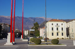 The main square of Vittorio Veneto Royalty Free Stock Photo