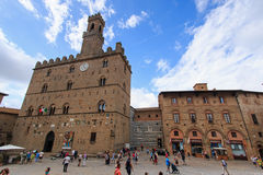 Main square of Volterra, Tuscany Royalty Free Stock Photos
