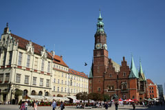Main square in Wroclaw (Poland) Royalty Free Stock Photography