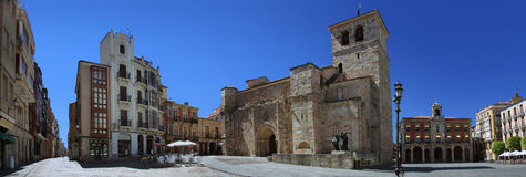 Main square in Zamora Stock Images