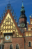 The main squer in Wroclaw, Poland Stock Image