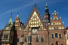 The main squer in Wroclaw, Poland Stock Photography