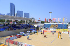 Main stadium of beach volleyball game,xiamen Stock Image