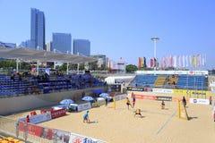 Main stadium of beach volleyball game,xiamen Stock Image