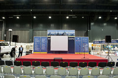 Main stage. Of the Balt Military Expo/Rescue 2012 in Gdansk, Poland Stock Image