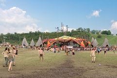 Main stage on Ozora Festival, one of Royalty Free Stock Image