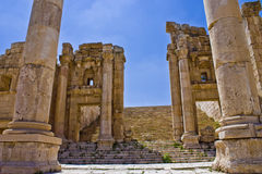 Main stair way to Artemus temple Royalty Free Stock Photos