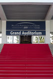 The main staircase of the Cannes Palace Festivals Stock Photos