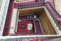 Main Staircase Osborne House Isle of Wight. Osborne House is a former royal residence in East Cowes, Isle of Wight, United Kingdom. The house was built between stock image