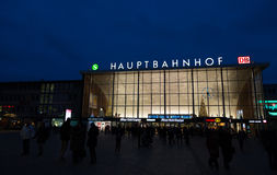 Main station of Cologne. Stock Image