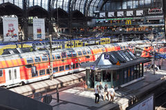 Main station in Hamburg Stock Photos