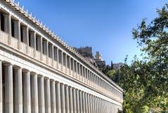 The Agora in Athens, Greece. Main stoa building of the Agora in Athens, the capital of Greece Stock Photography