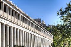 The Agora in Athens, Greece. Main stoa building of the Agora in Athens, the capital of Greece Stock Image