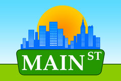 Main street. As the engine of economic and political power Royalty Free Stock Photos