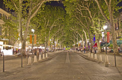Main street of Aix-en-Provence Stock Images