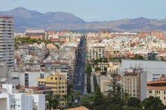 Main Street in Alicante Stock Afbeelding