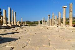 Main street in ancient Lycian city Patara. Turkey Royalty Free Stock Photo
