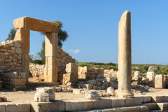 Main street in ancient Lycian city Patara. Turkey Stock Images