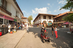 On the main street of the ancient town of Nessebar in Bulgaria Royalty Free Stock Photo