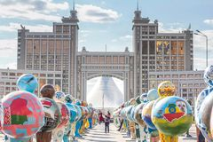 Astana`s main street, Kazakhstan 2017 royalty free stock photography