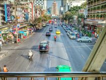 Main Street Bangkok Tailandia Immagini Stock Libere da Diritti