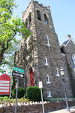 Main Street Baptist Church em Doylestown, Pensilvânia Imagem de Stock Royalty Free
