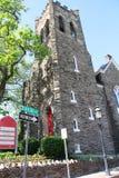 Main Street Baptist Church i Doylestown, Pennsylvania Royaltyfri Bild