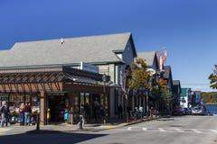 Main Street in Bar Harbor, USA, 2015 Stock Image