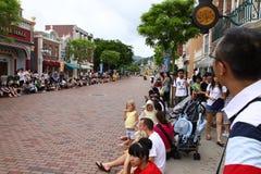 Main Street bei Hong Kong Disneyland Stockfoto