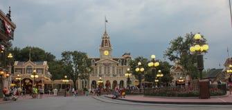 Main Street bij het Magische Koninkrijk Stock Fotografie