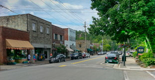 Main Street Blowing Rock North Carolina Royalty Free Stock Image