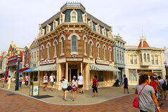 Main street buildings disneyland, hong kong Stock Photography