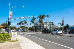 The main street in Carlsbad, California Stock Photo