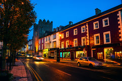 Main street of Cashel, Ireland at night Royalty Free Stock Photography
