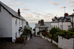 The main street in Clovelly, English heritage village Royalty Free Stock Photography