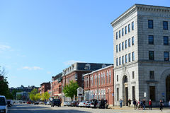 Main Street, Concord, NH, USA. Historic Building on Main Street in downtown Concord, New Hampshire, USA stock photo