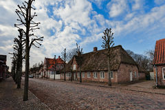 Main street in Danish village, Stock Photo