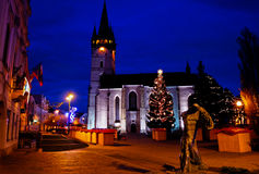 Main Street dans Presov, Slovaquie Image libre de droits