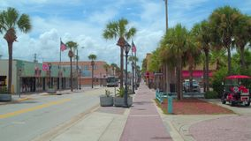 Main Street Daytona Beach FL stock videobeelden