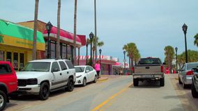 Main Street Daytona FL stock footage