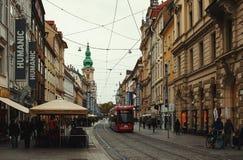 Main Street de Graz Photos libres de droits
