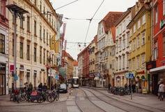 Main Street de Graz Photo stock