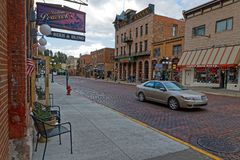 Main street in Deadwood, south Dakota stock photos
