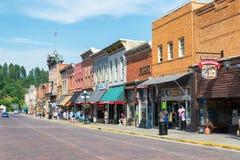 Main Street in Deadwood, South Dakota Stock Images