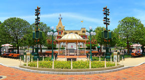 Main street, disney land, hong kong Royalty Free Stock Photos