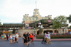 Main Street at Disney's Magic Kingdom. Stock Photography