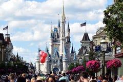 Main Street Disney värld, Florida arkivbilder