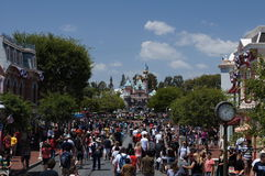 Main Street Disneyland Royalty Free Stock Photo