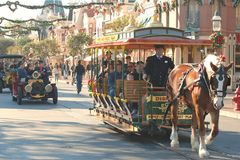Main Street at Disneyland, California Royalty Free Stock Images